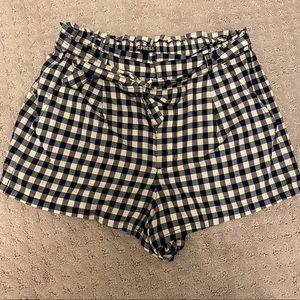 Express gingham shorts